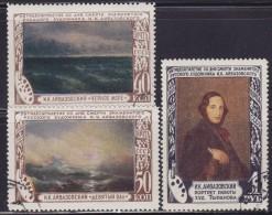 1(474). Russia USSR 1950 Painter Ivan Konstantinovich Aivazovsky, Used (o) Michel 1522-1524 - 1923-1991 URSS