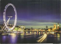 View Over The Thames And Big Ben,  Carte Postale Londres  Adressée ANDORRA, Avec Timbre à Date Arrivée