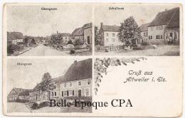 67 - GRUSS Aus ALTWEILER - Obergasse / Schulhaus +++++ Sans éditeur ++++ 1918 +++ - Autres Communes