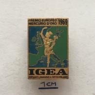 Badge (Pin) ZN003964 - Premio Europeo Mercurio D'oro 1969 IGEA Impianti Lavaggio A Secco Milano - Pin's