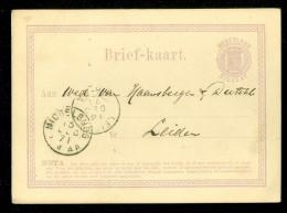 HANDGESCHREVEN BRIEFKAART Uit 1871 * GELOPEN Van MIDDELBURG Naar LEIDEN * VOORDRUK NVPH 18 (10.520u) - Postal Stationery