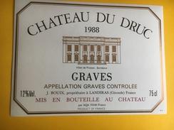 2512 -  Château Du Druc 1988 Graves - Bordeaux