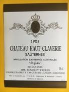 2518 -  Château Haut Claverie 1983 Sauternes - Bordeaux