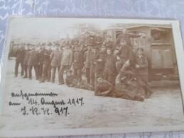 ROUMANIE . CARTE PHOTO MILITAIRES ET VEHICULE  1917 - Rumänien