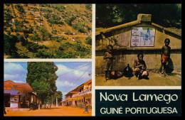 NOVA LAMEGO - CHAFARIZES E FONTES- Fonte; Vista Aerea; Rua Principal  ( Ed. Foto-Serra Nº 153) Carte Postale - Guinea Bissau