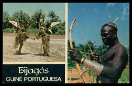 BIGAJOS - CAÇA - Caçador Felupe- Deus Peixe ( Ed. Foto-Serra Nº 156) Carte Postale - Guinea Bissau