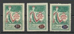 LETTLAND Latvia 1920 Michel 55 - 57 * - Lettonia
