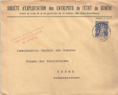 """Motiv Brief  """"Sociéte D'Exploitation Des Entrepots, Genève""""             1924 - Covers & Documents"""