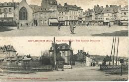Pont-Audemer (27) Place Victor Hugo - Rue Stanislas Delaquaize - Pont Audemer