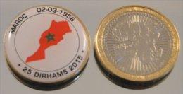 Maroc 2015 Bimetal Couleurs Drapeau - Maroc