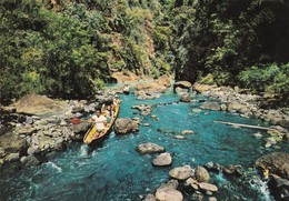 PHILIPPINES, 1950-70s; Shooting The Rapids, Tourists And Sightseers Riding In Small Dug-outs Paddled By Skilled Boatman - Philippines