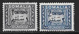 Somalia, Scott # J55-6 Mint Hinged Postage Due, 1950 - Somalia