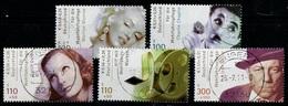 Allemagne Fédérale 2001 Y&T N°2050 à 2054 - Michel N°2218 à 2222 Oblitéré - Used - Gestempelt - Acteurs De Cinéma - BRD