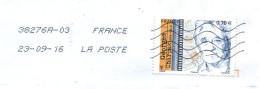 France 2016 - YT 5034 - Oblitération 38276A03 Du 23/09/16 - Marcophilie (Lettres)