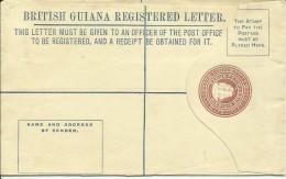British Guiana Registered Letter  Four Cents  Unused - Guyana Britannica (...-1966)