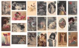 LOT De 75 Cpa Fantaisies - FEMMES  -The LOT Of 75 Cpa WOMEN - Voir Les Scans - Couples