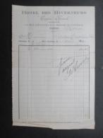 VP FACTURE TUNISIE (V1618) HOTEL DES HIVERNEURS 1914 (2 Vues) Rue D'autriche, 106 Et Avenue De Carthage, 3 - Autres