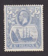 St Helena, Scott #83, Mint Hinged, Badge Of Colony, Issued 1922 - Saint Helena Island