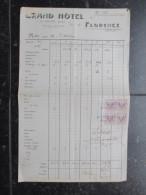 VP FACTURE ITALIE (V1618) GRAND HOTEL FLORENCE 1919 (2 Vues) G. Kraft, Propr. Marca Da Bollo 5 Centisimi - Italie