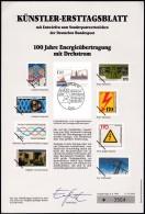 BRD  1557, Künstlerersttagsblatt (34/1991) Mit Den Markenentwürfen, Drehstrom Energieübertragung 1991 - BRD