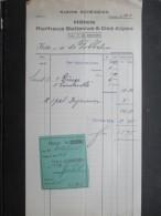VP FACTURE SUISSE? (V1618) HOTELS KURHAUS BELLEVUE & DES ALPES 1932 (2 Vues) Propr. F. Von Almen-Seller - Suisse