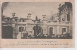 CPA Incendie Du Château De Beloeil - Les Pompiers D'Ath Préservant Les Archives ... (très Belle Animation) - Ath
