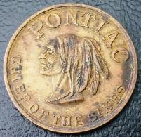 VINTAGE GENERAL MOTORS TOKEN - PONTIAC CHIEF OF THE SIXES - HIGH GRADE - Tokens & Medals