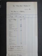 "VP FACTURE ROYAUME-UNI (V1618) The ""WHITE HART,"" Windsor 1937 (2 Vues) - Royaume-Uni"