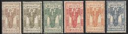 "Tripolitania, Scott # B7-12 MNH ""Peace"", 1926 - Tripolitania"