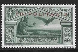 Tripolitania, Scott # C4-5 Mint Hinged Italy Stamps,Virgil, Overprinted,1930 - Tripolitania