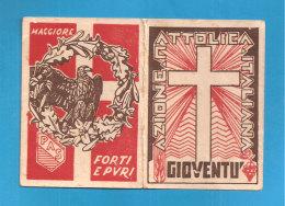 TESSERA AZIONE CATTOLICA ITALIANA 1937 DIOCESI MAZARA DEL VALLO  BOLLO VIDIMAZIONE DIOCESANA - Non Classés