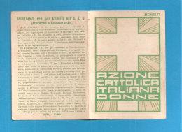 TESSERA AZIONE CATTOLICA ITALIANA DONNE   1942 DIOCESI BISTAGNO ASTI  BOLLO VIDIMAZIONE DIOCESANA - Organizzazioni