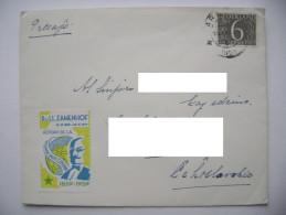 Cover Arnhem Netherlands 1959 Stamp 6 Cent - Czechoslovakia, Label Cinderella Zamenhof + Back Side Tuberculosebestrijdin - Esperanto