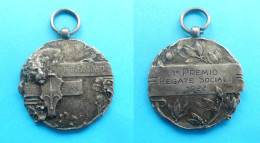 TRIESTE GYMNASTICS ASSOCIATION 1922. - 1st PRIZE ... * Italy Vintage Medal * Gymnastique Gymnastik Ginnastica Italia RRR - Gymnastics