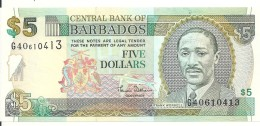 BARBADES 5 DOLLARS ND2000 UNC P 61 - Barbades