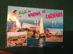 Cartolina Saluti Da Marina Di Carrara  Pin Up Vele Regata Lido Paradiso,viale XX Settembre - Carrara