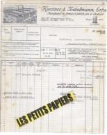 Allemagne - ERFURT - Facture KAESTNER & POEBELMANN - Manufacture De Lampes à Pétrole, Gaz Et électricit – 1931 - REF 245 - Deutschland