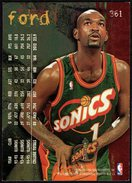 BASKETBALL NBA - SEATTLE SUPERSONICS - SHERELL FORD - FLEER 95-96 - Singles (Semplici)