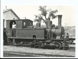Locomotive 130T - SLM N° 8 à Mandas - 16/7/1964 - Photo Wisseman - BVA 580 FCS - Trains