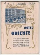Tourism Small Book ::: Guia De Barcelona ::: Hotel Oriente ::: Very Images - Dépliants Touristiques