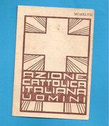 TESSERA AZIONE CATTOLICA UOMINI    1947 DIOCESI BRINDISI - Documentos Antiguos