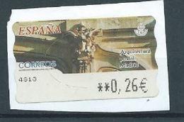 ESPAGNE SPANIEN SPAIN ESPAÑA 2002 ATM-DISTRIBUCION Arquitectura Postal. Madrid ED 82 YV 75 - 1931-Today: 2nd Rep - ... Juan Carlos I