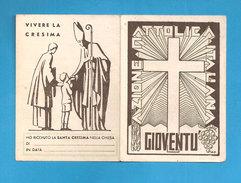 TESSERA AZIONE CATTOLICA ITALIANA GIOVENTU'   - 1938 DIOCESI MAZARA DEL VALLO - Organizzazioni
