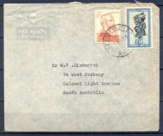 1946 , CONGO BELGA , SOBRE CIRCULADO ENTRE LEOPOLDVILLE Y SOUTH AUSTRALIA - Belgisch-Kongo