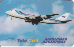 USA - Aerolineas Argentinas, International TeleCard Prepaid Card $5, Used - Aviones