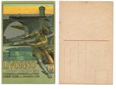 LIVORNO LUGLIO-AGOSTO 1910 FERROVIA LIVORNO-CECINA #35 - Pubblicitari