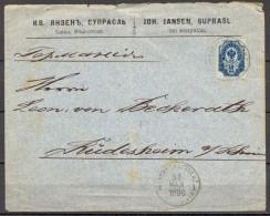 1896 , FINLANDIA , BIALYSTOK - RÜDESHEIM , INTERESANTE SOBRE CIRCULADO , YV. 41 , ADMON . RUSA , LLEGADA - Briefe U. Dokumente