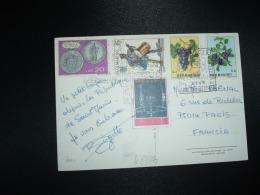 CP Pour FRANCE TP AVION 60L + TP MONNAIE 20L + TP TAMBOUR 15L + TP FRUITS 4L + 1L OBL.30 8 1876 - Lettres & Documents
