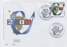 Enveloppe  FDC  1er  Jour    MAYOTTE    L´  AN     MAMOUDZOU  2000