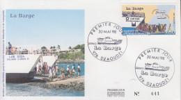 Enveloppe  FDC  1er  Jour    MAYOTTE    La   BARGE     DZAOUDZI     1998